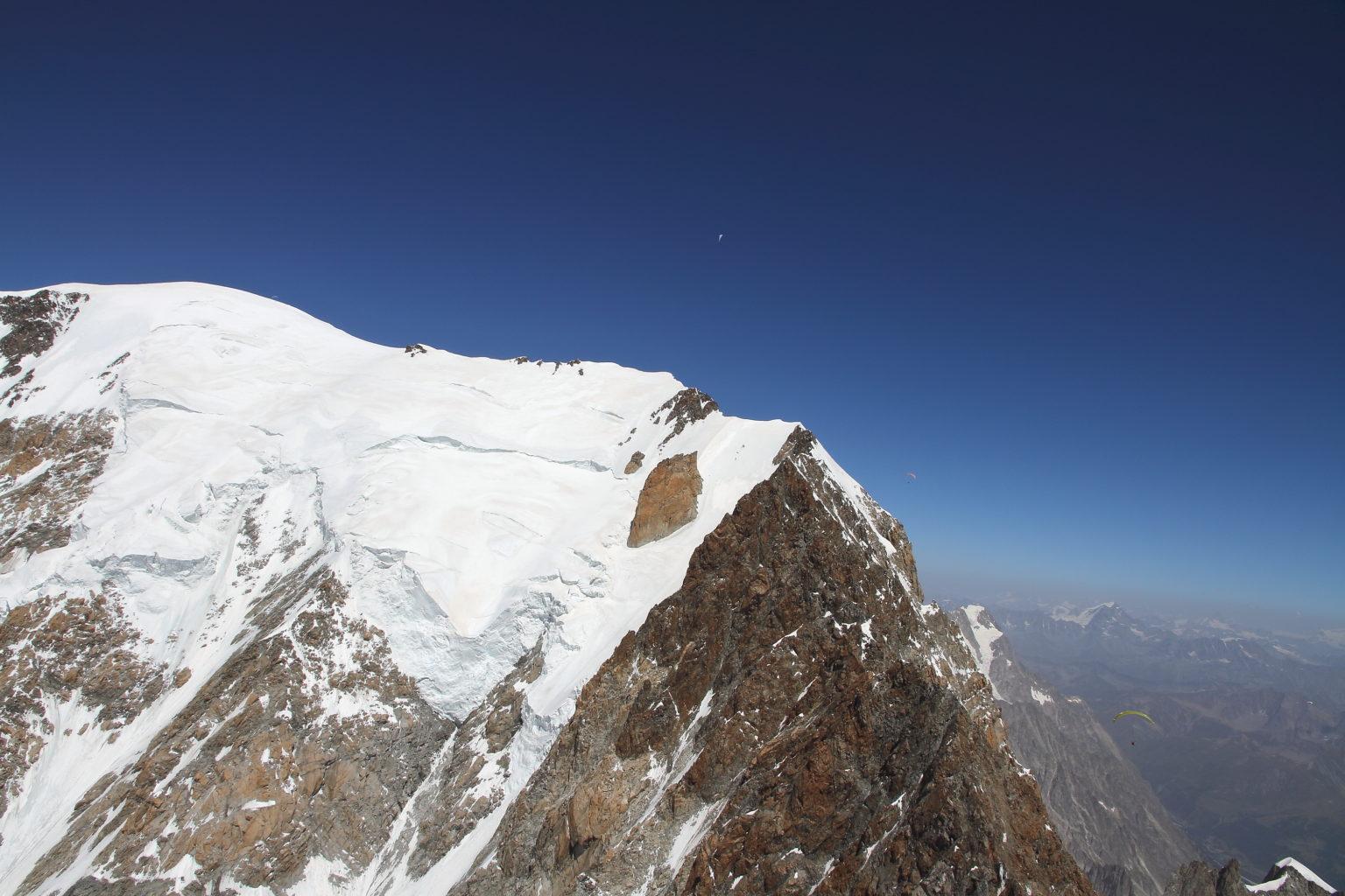 4400m au-dessus de Bionnassay, on bascule versant Italien